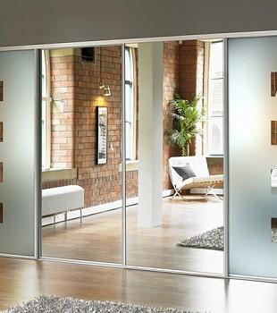 двери дла гардеробной с зеркалами в краснодаре